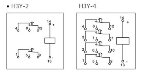 OMRON H3Y-2 /& H3Y-4 12v to 220V  Min Solid State Timer unit UK SUPPLY