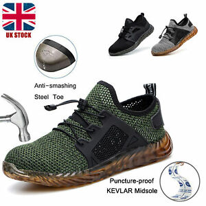 Mens Indestructible Safety Steel Toe Work Boots Ultra Lightweight Trainers Shoes
