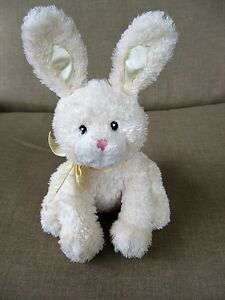 Baby Gund Funny Bunny Rabbit Plush Rattle Sound Toy 8 Tall Light