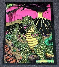T-Rex Dinosaur 1976 Rare Black Light Velvet Original Dynamic 104 Poster FA/G