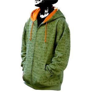 Line-Skis-Mens-Green-Logo-Pattern-Hoodie-Sweatshirt-in-SM-MD-amp-LG-New-w-Tags