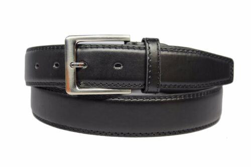 Herren Genähte 3,5 cm breit Solide Geschäfts Beiläufige Stilvolle Leder Gurtel