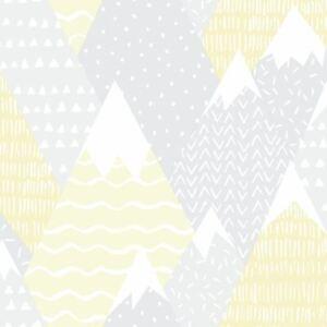 Over-The-Arc-En-Ciel-Montagnes-Papier-Peint-91050-Enfants-Pois-Triangles