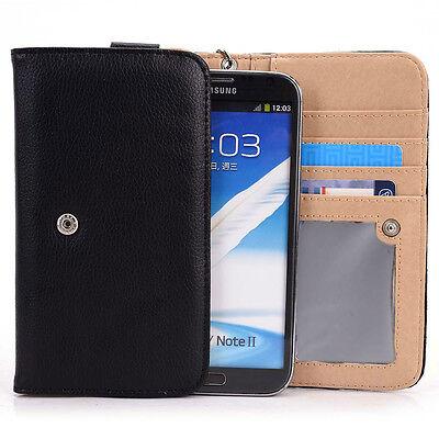Phablet Large Clutch Purse Style Flip Wallet Case Smartphone Cover Safe Guard
