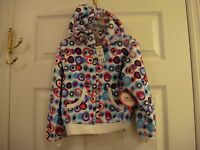 Girl's Young Hearts Jacket Hooded Fleece Zipper Front Size 5 W/tags