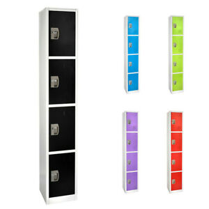 AdirOffice-Steel-4-Door-Compartment-Key-Lock-Office-Gym-Storage-School-Locker