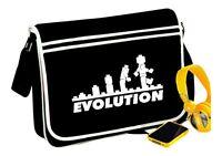 Lego Evolution Messenger Bag Black Word Funny Retro Fun Gift - T Shirt In Shop