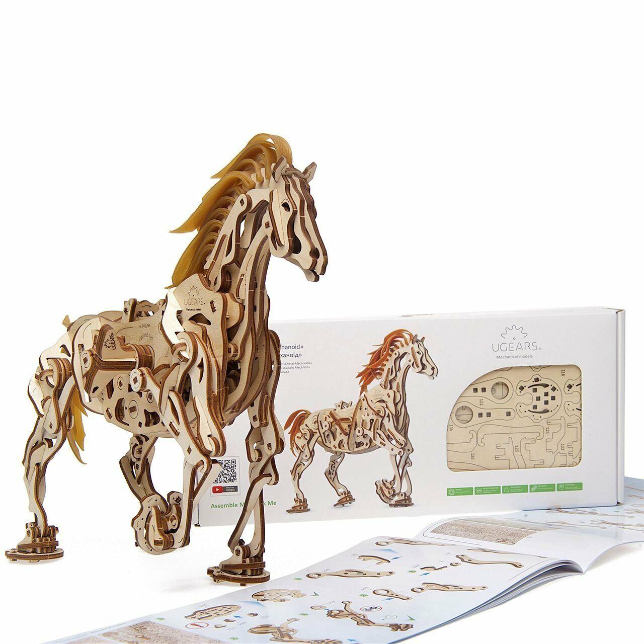 S. T. E. A.m. Ligne Jouets Ugears 3-d Puzzle en Bois - Mécanique Cheval