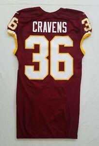 #36 Su'a Cravens of Washington Redskins NFL Game Issued Jersey