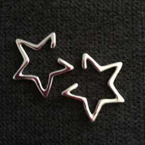 Geometry-Star-Triangle-Ear-Clip-Cuff-Studs-Cartilage-Earrings-Non-Piercing