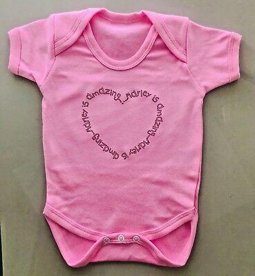 Ropa De Bebé Personalizado Chaleco Babygrow gran bebé ducha regalo cualquier nombre