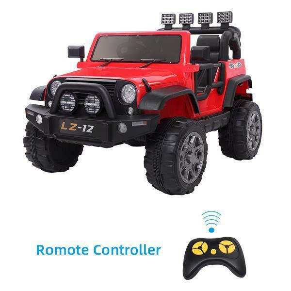 12V Kids Ride On Car Toy Jeep Rechargeable Battery 4 mph Remote Control Gift US