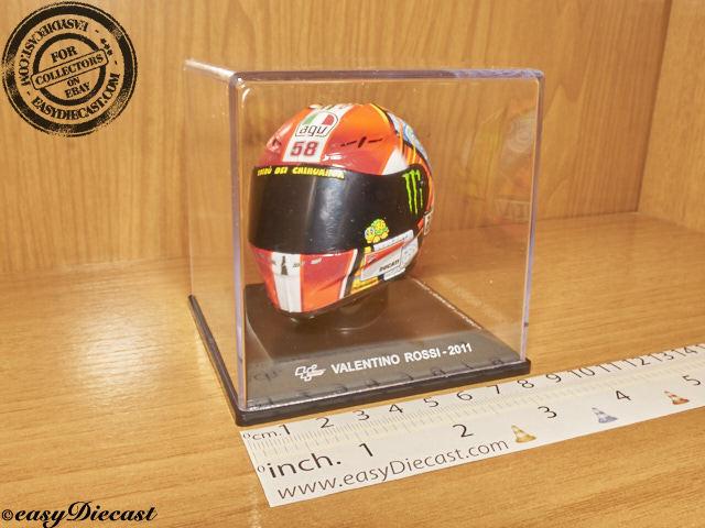 Valentino rossi moto-GP AGV 2011 helmet 1 5 Circuit ricardo tormo helmet rare
