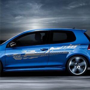 2x-Design-Future-230x40cm-Grafik-Seitenaufkleber-Auto-Aufkleber-Tuning-Folie-S39