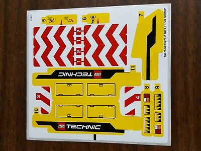 "LEGO TECHNIC 42006 EXCAVATOR /""NEW ORIGINAL STICKER SHEET ONLY/"""