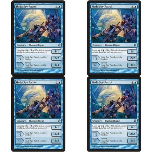 4 x HADA SPY PATROL NM mtg Commander 2013 Blue - Human Rogue Unc