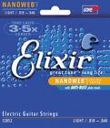 3 Sets Elixir 12052 Light Gauge Nanoweb Coated Electric Guitar Strings 10 - 46