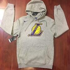 84a4b387389 Nike Los Angeles Lakers NBA Logo Hoodies Grey 881139-063 Men Size Small S
