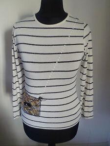 76e2643ea J Jeans Jasper Conran Long Sleeve Blue & White Stripe Top Handbag ...
