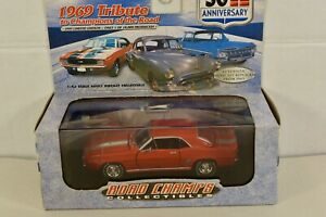 New Old Stock Road Champs Orange 1969 Chevy Camaro With Case 1:43rd Die-cast