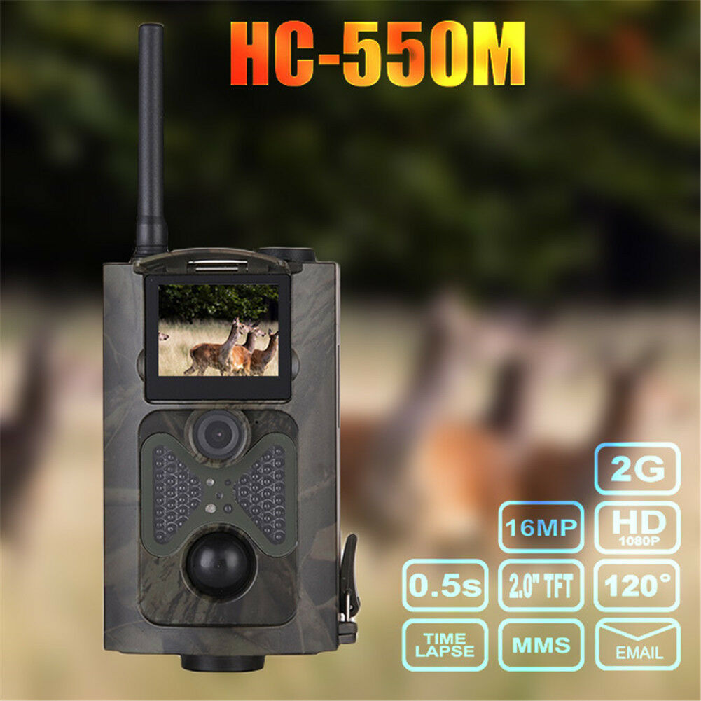 HC550M Infrarojo Trail Hunting Camera 1080P HD GSM MMS GPRS SMS  Scouting Game