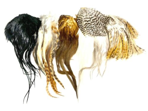 """Lot of 150+ pcs. Hair//Fly//Crafts Natural Short 2/""""- 6/"""" Whiting Farms Feathers"""