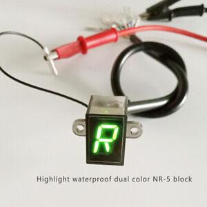 Pantalla-LED-Digital-Motocicleta-Indicador-De-Marcha-Luz-Azul-Sensor-de-palanca-de-cambio