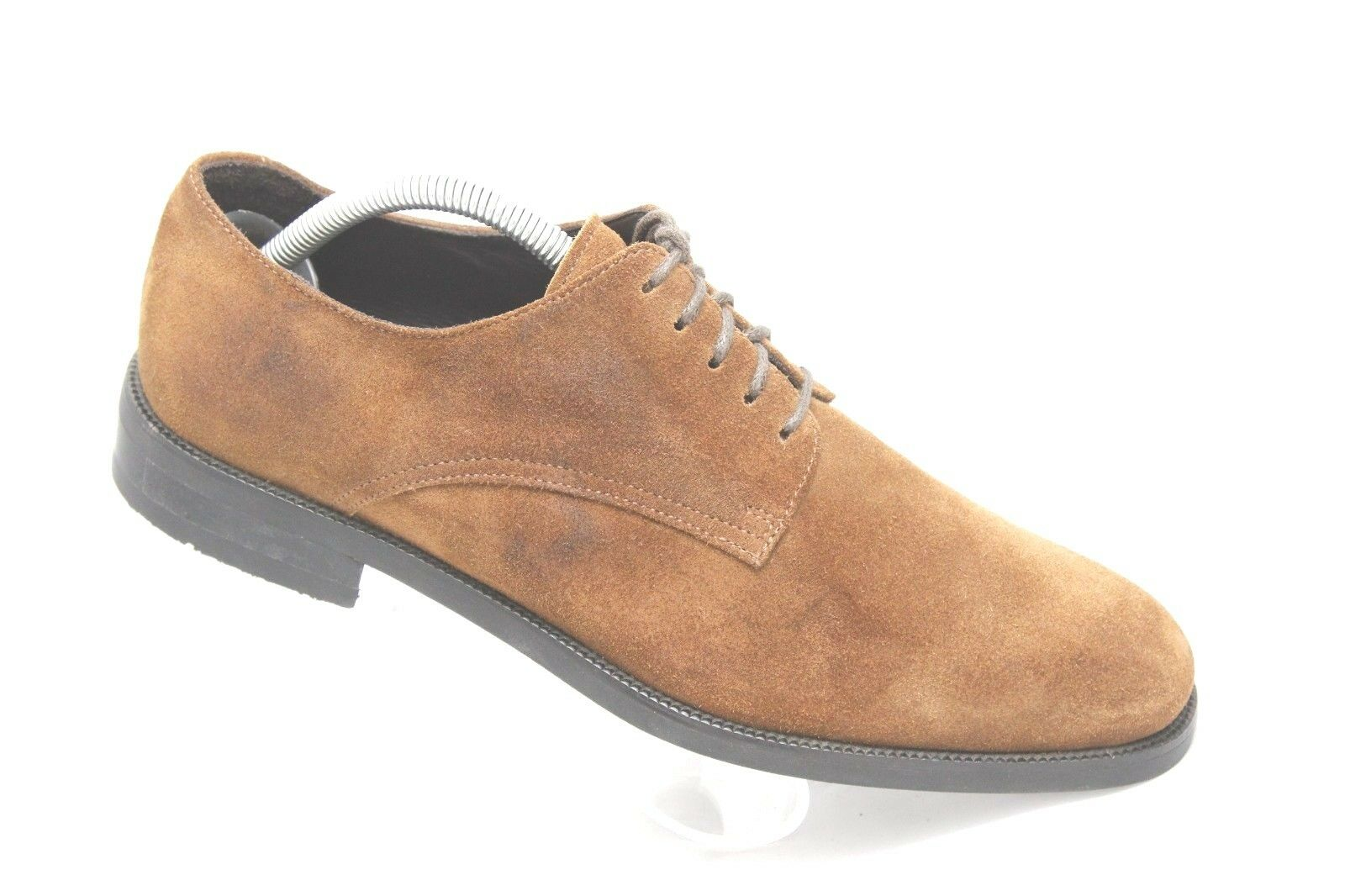 Saks Fifth Avenue Uomo Size 8 Brown Suede Pelle Dress Shoes Made In Italy