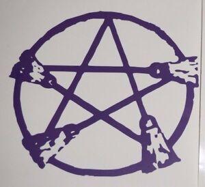 Wall Sticker custom Vinyl indoor decal window laptop removable Wicca Pentagram 3