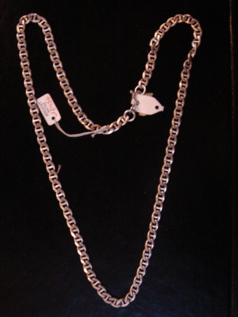 Molto a Maglie Catena in argentoo argentoo argentoo Massiccio lungo 50 cm Peso 19 Gr Vintage Nuovo 40ef7d