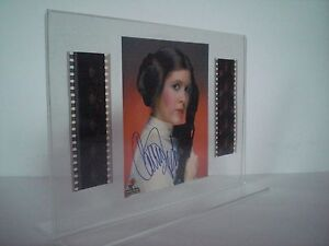 STAR-WARS-4-Prinzessin-Leia-Carrie-Fisher-Film-Cell-Collage-signiert
