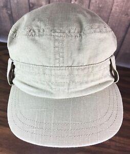 Gap Kids Beige Military Cadet Hat Army Cap S/M   eBay
