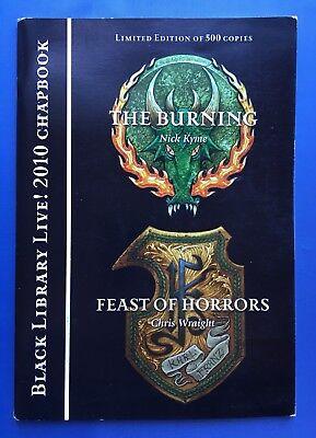 Black Library Live! 2010 Chapbook-burning/festa Degli Orrori Warhammer 40k-mostra Il Titolo Originale Dolorante