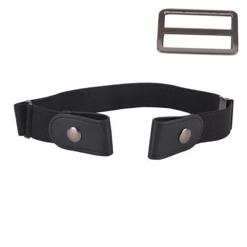 Women Men Unisex Buckle Free Stretchy Elastic Waist Belt Waistband Adjustable YE