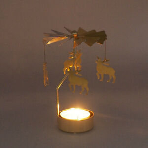 Hot-Spinning-Rotary-Metal-Carousel-Tea-Light-Candle-Holder-Stand-Light-Gift-UK