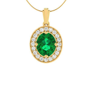 4-10-Ct-Oval-Green-Emerald-and-Sapphire-Halo-Pendant-Necklace-14k-Yellow-Gold-GP