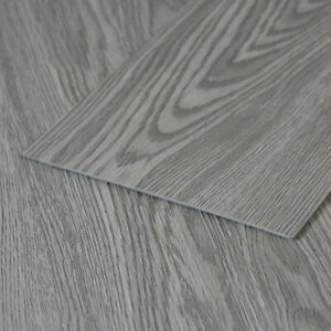 Luxury Grey Wood Plank Tile Vinyl Flooring Slip Resistant ...
