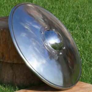 """Medieval Knight Shield All Metal 18 gauge Handcrafted 18"""" inch Replica shield"""