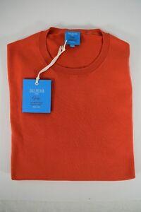 NWT-DALMINE-pullover-uomo-GIROCOLLO-cotone-034-GIZA-034-corallo-P-E-tg-48-52-56-IT