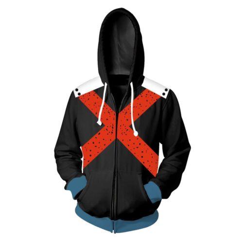 My Boku no Hero Academia Midoriya Izuku Bakugou sweatshirt kapuzenpulli jacke