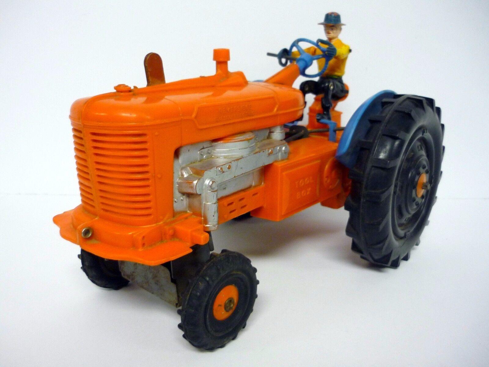 Marx Reversible Diesel Eléctrico Tractor Vintage Funciona con Pilas