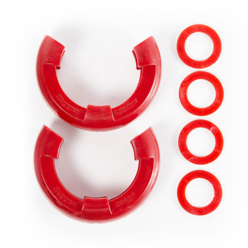 Rugged Ridge D-Shackle Isolator Kit Red Pair Fits 7//8 Inch D Ring  11235.41