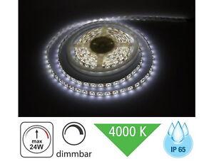 3 98 eur m led lichtband 5m ip65 dimmbar 24w 1200lm aussen strip tageswei ebay. Black Bedroom Furniture Sets. Home Design Ideas