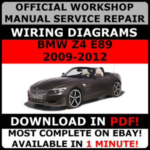 official workshop repair manual for bmw series z4 e89 2009 2012