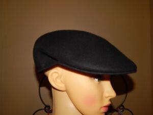 6a2fc76d039 Dorfman Pacific Co ~ Scala ~ Black Wool Cuffley Cap - Newsboy ...