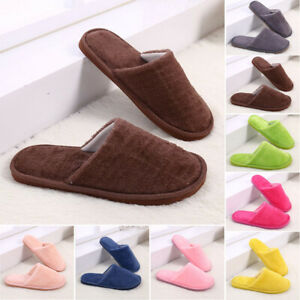 NEW-Women-Plush-Non-Slip-Slippers-Shoes-Warm-Indoor-Winter-Home-Slippers-US-Size