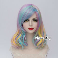 Women's Fashion 35CM Multi Color Short Curly Lolita Party Anime Cosplay Wig