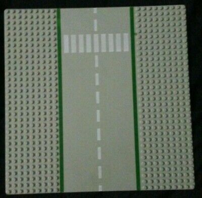 Lego Baseplate Intersection Road Street City Town Green 32x32 32 x 32 Studs