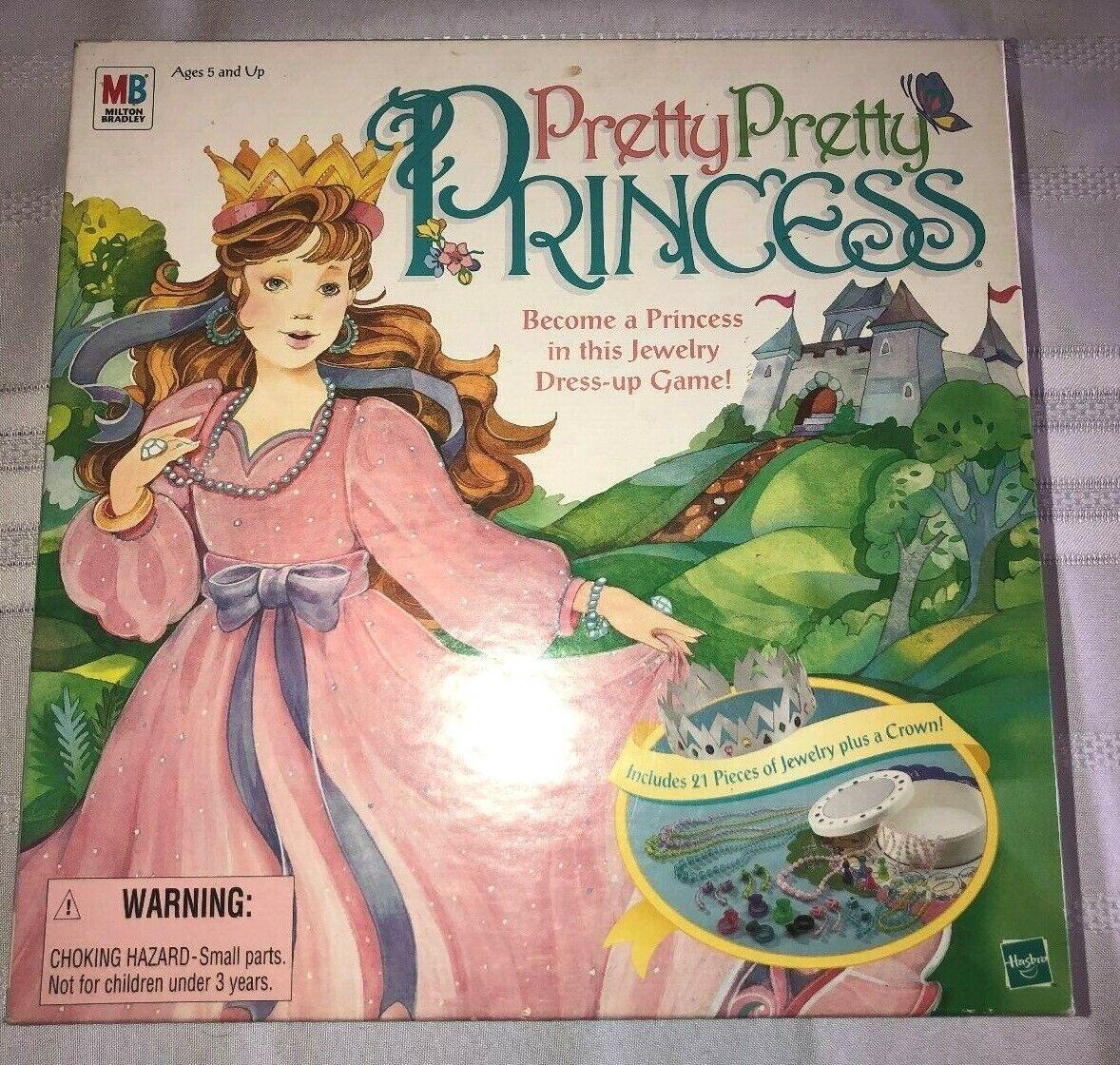 Hasbro Pretty Pretty Princess Complete Jewelry & Crown Dress Up Board Game 1999