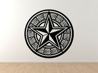 Nautical Star Tribal Fishing Symbol Seal Badge Sea Lake - Vinyl Wall Decal